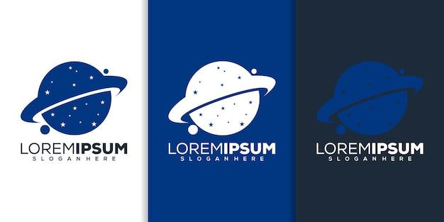 Design de logotipo do planeta moderno