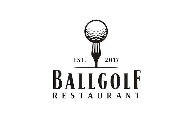 Design de logotipo do restaurante golf
