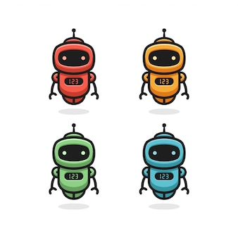 Design de logotipo do robô
