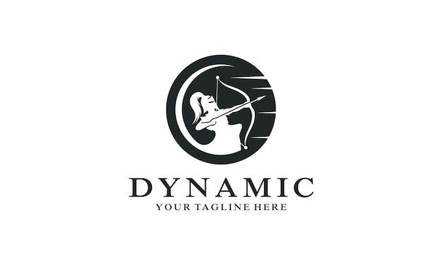 Design de logotipo do símbolo de arco e flecha criativo