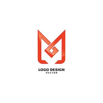 Design de logotipo do símbolo m