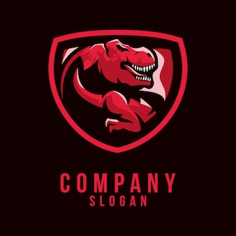Design de logotipo do t-rex