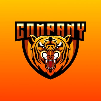 Design de logotipo do tigre