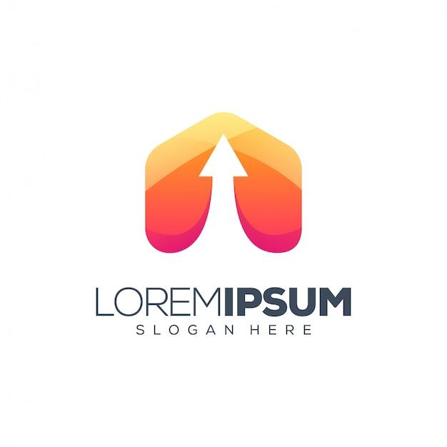Design de logotipo do triângulo Vetor Premium