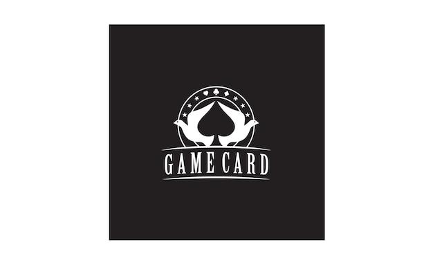 Design de logotipo dove spade poker