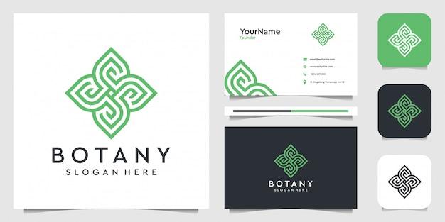 Design de logotipo e cartão de foguete
