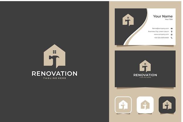 Design de logotipo e cartão de visita da casa de reforma