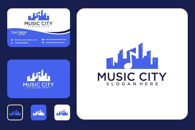 Design de logotipo e cartão de visita da cidade da música