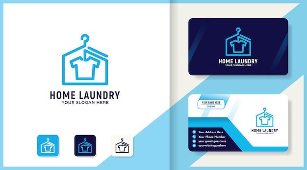 Design de logotipo e cartão de visita da lavanderia