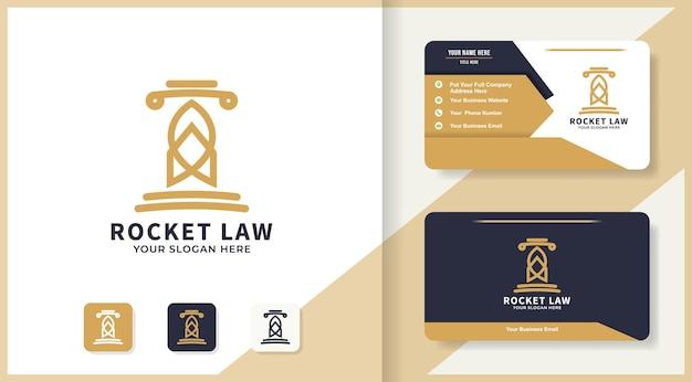 Design de logotipo e cartão de visita da lei de foguetes
