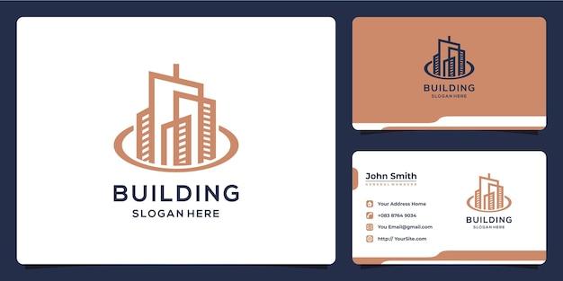 Design de logotipo e cartão de visita de apartamento de luxo
