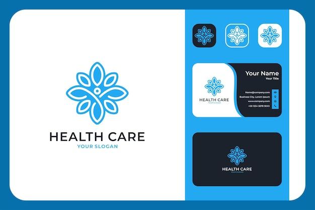 Design de logotipo e cartão de visita de cuidados de saúde