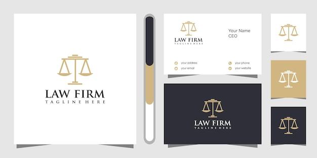 Design de logotipo e cartão de visita de escritório de advocacia