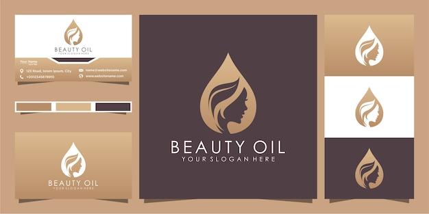 Design de logotipo e cartão de visita de mulheres de beleza, bom uso