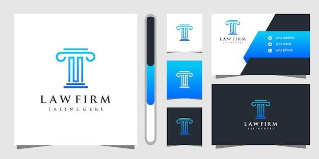 Design de logotipo e cartão de visita do escritório de advocacia.