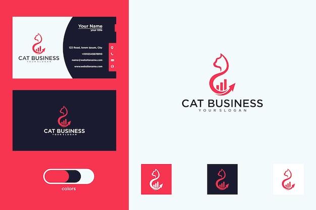 Design de logotipo e cartão de visita do gato