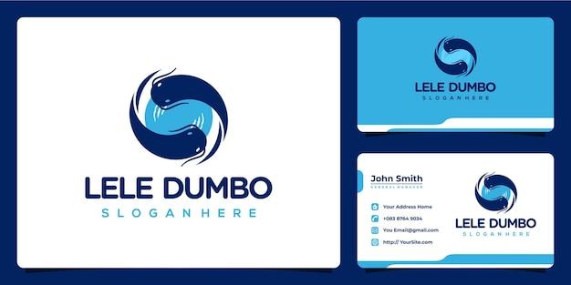 Design de logotipo e cartão de visita dos gêmeos bagre