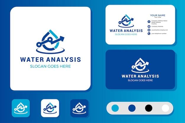 Design de logotipo e cartão de visita para análise de água