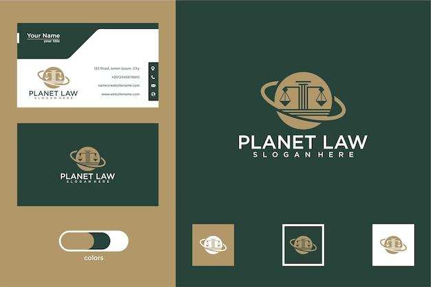 Design de logotipo e cartão de visita planet law