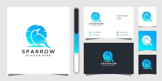 Design de logotipo e cartão de visita sparrow