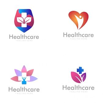 Design de logotipo e ícone de cuidados de saúde em casa