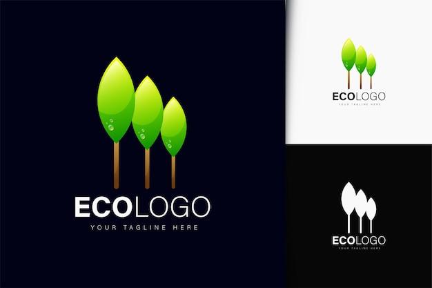 Design de logotipo ecológico com gradiente