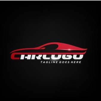 Design de logotipo elegante carro vermelho