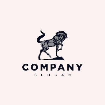 Design de logotipo elegante cavalo