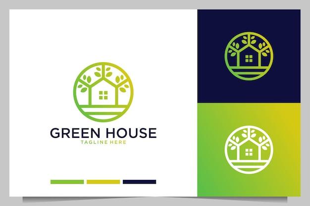 Design de logotipo elegante e moderno da green house