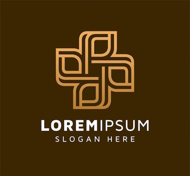 Design de logotipo elegante folha monoline