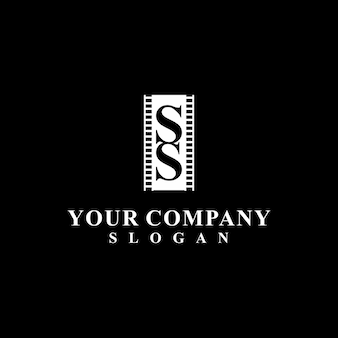 Design de logotipo elegante para produção de filmes
