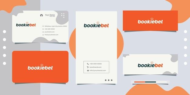 Design de logotipo em folha de palmeira e letras e cartão de visita