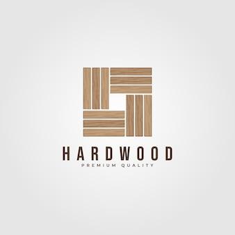 Design de logotipo em parquet de madeira dura