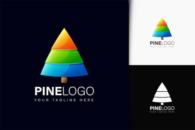Design de logotipo em pinho com gradiente