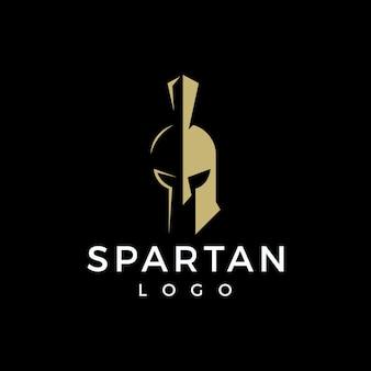 Design de logotipo espartano minimalista