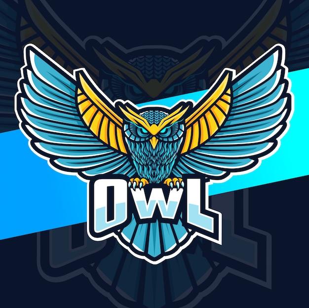 Design de logotipo esport coruja mascote
