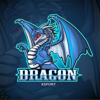 Design de logotipo esport dragão mascote