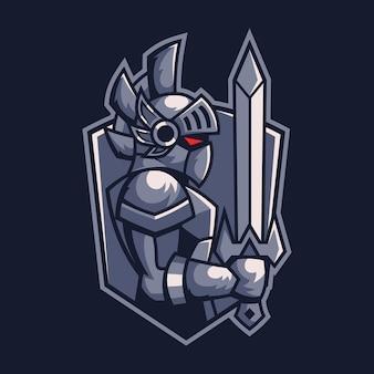 Design de logotipo esport guerreiro espadachim