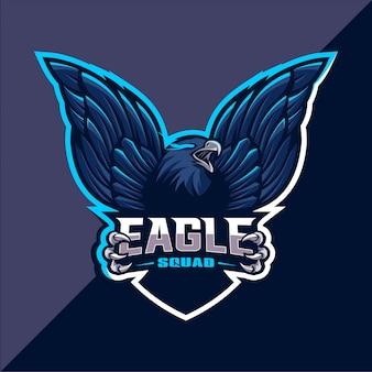 Design de logotipo esport mascote águia