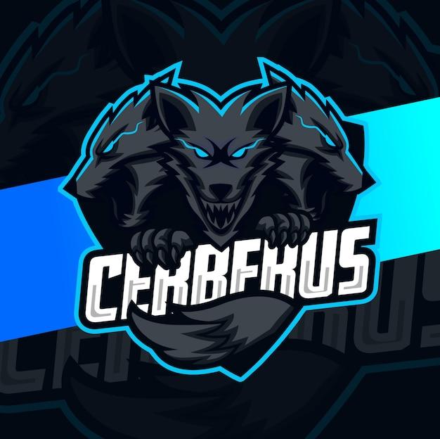 Design de logotipo esport mascote cerberus