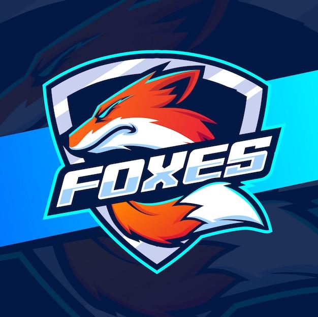 Design de logotipo esport mascote fox