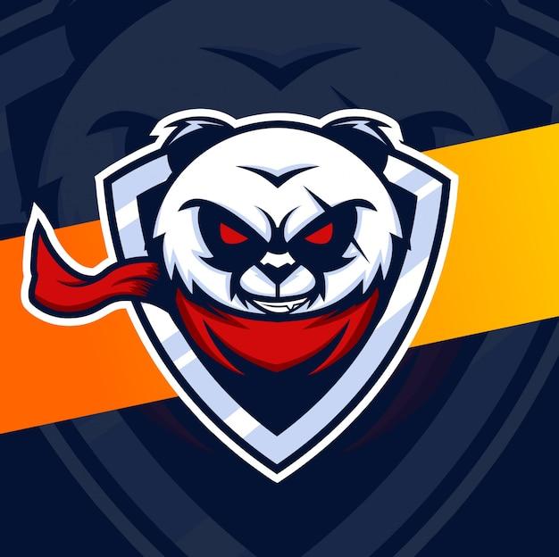 Design de logotipo esport panda mascote