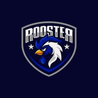 Design de logotipo esporte galo mascote