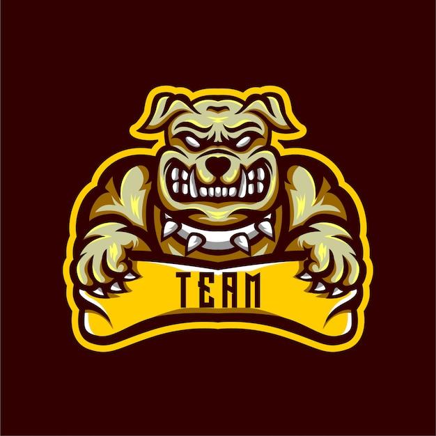 Design de logotipo esports bulldog