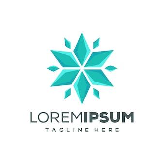 Design de logotipo estrela hexagonal
