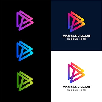 Design de logotipo exclusivo do media triangle