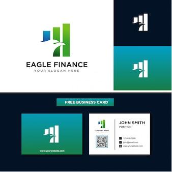 Design de logotipo financeiro de águia