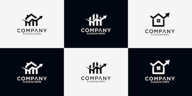 Design de logotipo financeiro para casa em pacote