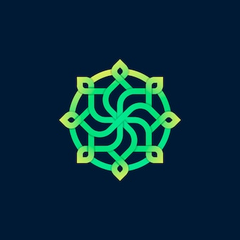 Design de logotipo flor minimalista com conceito de arte linha.