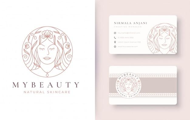 Design de logotipo floral para mulheres de beleza